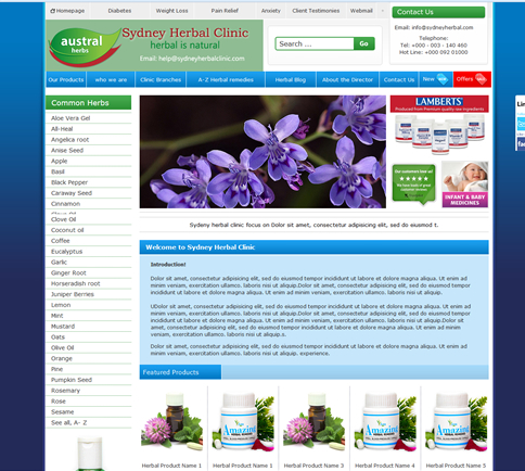 Pharmaceutical / Herbal Clinic Template