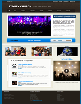 Free Church Ministry Charity Website Template
