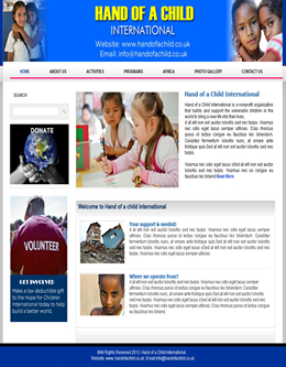 Good Organisation / Children Free Website Template In Ngo Templates